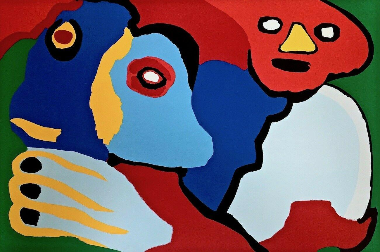 Moving in the Wind, 1974 Limited Edition Silkscreen, Karel Appel