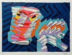 Sad Cat, Limited Edition Lithograph, Karel Appel