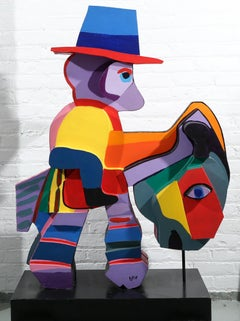 Donkey Monkey, Limited edition hand painted and signed COBRA sculpture