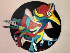 L'Oiseau, Unique COBRA sculpture hand-signed