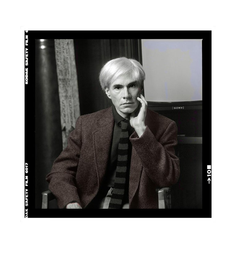 Karen Bystedt Portrait Print - Thoughtful Andy #2 Colorized