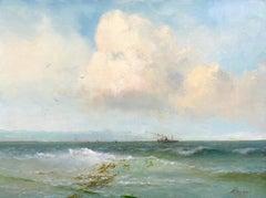 Ocean View, Original oil Painting, Framed