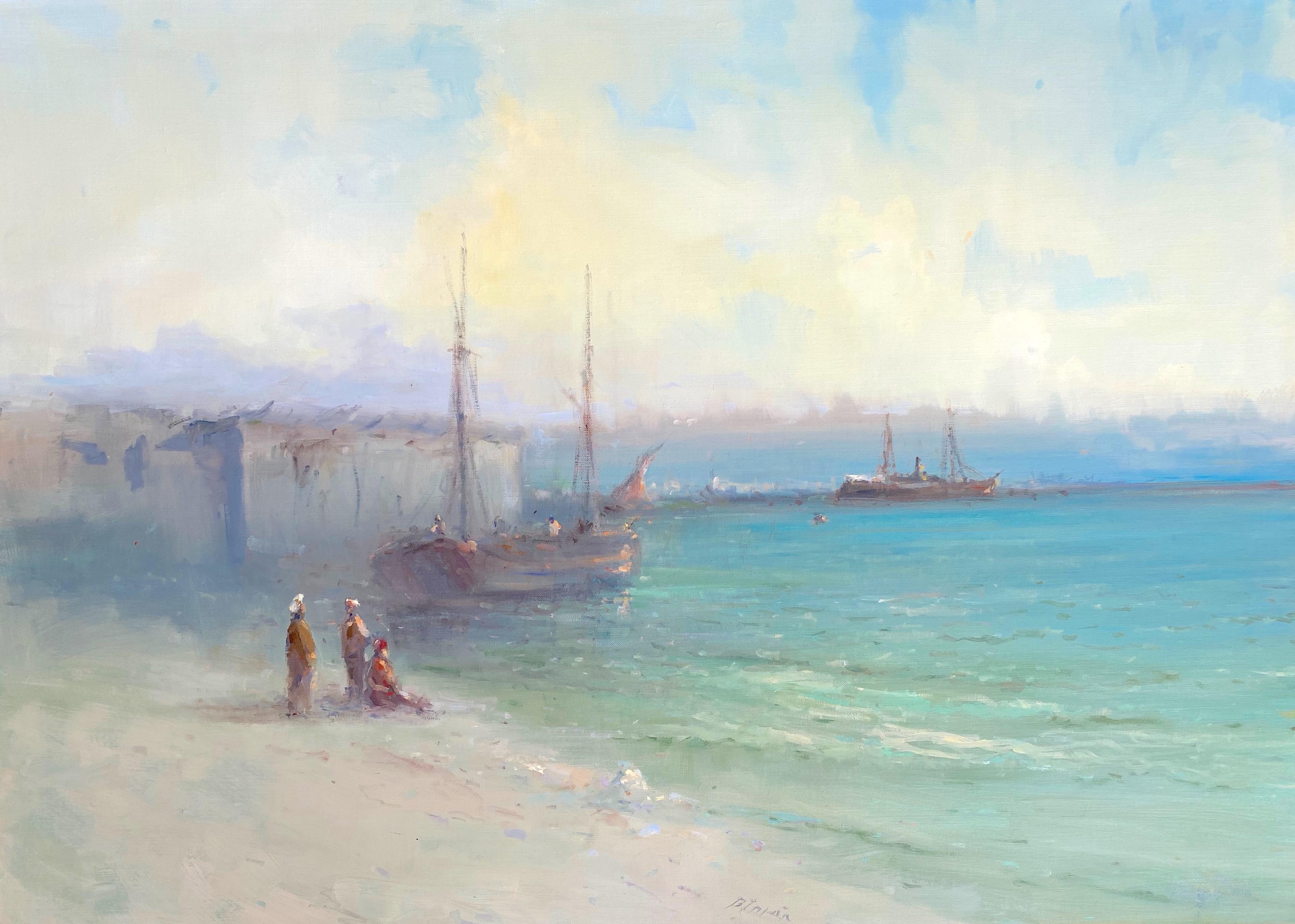Seashore, Original oil Painting, Framed