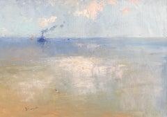 Tug, Original oil Painting, Framed
