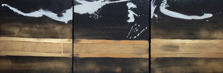 Karen Green Recor Abstract Painting - Elan I, II & III