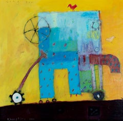 """""""Song Ten,"""" Acrylic on Paper Abstract signed by Karen Hoepting"""