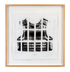 """""""Bullet Proof"""" Art on Paper, Lithography, print, political, black, white, litho"""