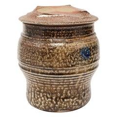 Karen Karnes Attributed Mid-Century Modern Stoneware Art Pottery Covered Jar