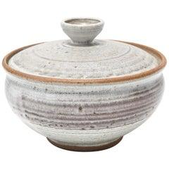 Karen Karnes Mid-Century Modern Stoneware Art Pottery Covered Bowl