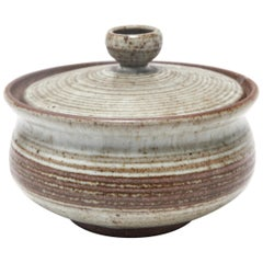 Karen Karnes Mid-Century Modern Stoneware Art Pottery Covered Dish