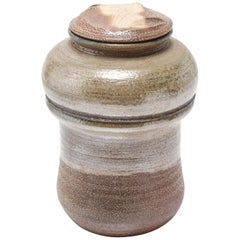 Karen Karnes Mid-Century Modern Stoneware Art Pottery Covered Jar