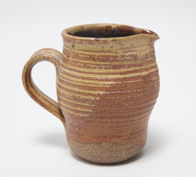 American Karen Karnes Mid-Century Modern Stoneware Art Pottery Pitcher For Sale