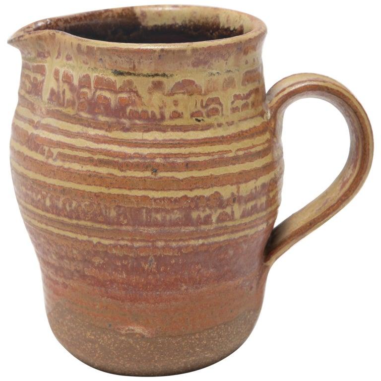 Karen Karnes Mid-Century Modern Stoneware Art Pottery Pitcher For Sale