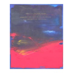 """Access to the Spirit"" Blue and Red Abstract Expressionist Painting"