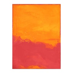 Large Orange and Coral Pink Abstract Expressionist Painting