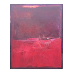 """Lest the Circle be Broken"" Red and Purple Abstract Expressionist Painting"