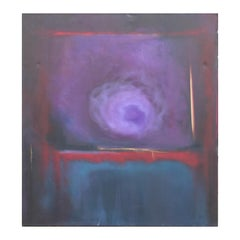 """Nirvana - State of - I"" Purple, Blue, Red Abstract Expressionist Painting"