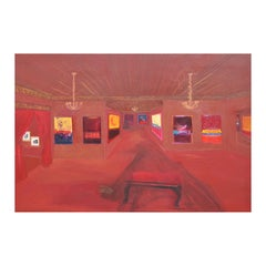 """""""Portrait of an Exhibition IV - The Haunting"""" Abstract Expressionist Painting"""