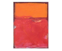 Red, Orange and Purple Abstract Expressionist Painting after Mark Rothko
