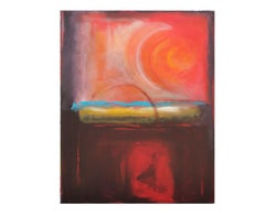 """Seduction of Red"" Deep Red Mark Rothko Style Painting"