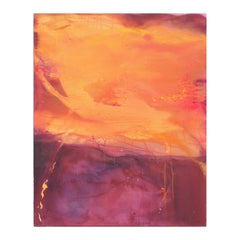 """""""The Awakening III"""" Orange and Purple Abstract Expressionist Painting"""