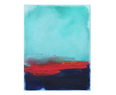 """The Visionaries"" Blue and Red Colorfield in Style of Mark Rothko"
