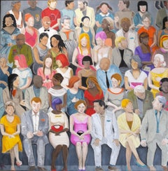 Karen Lynn, Crowd in Vivid Colour 6, Figurative Artwork
