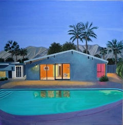 Karen Lynn, Night Swimming, Original landscape painting