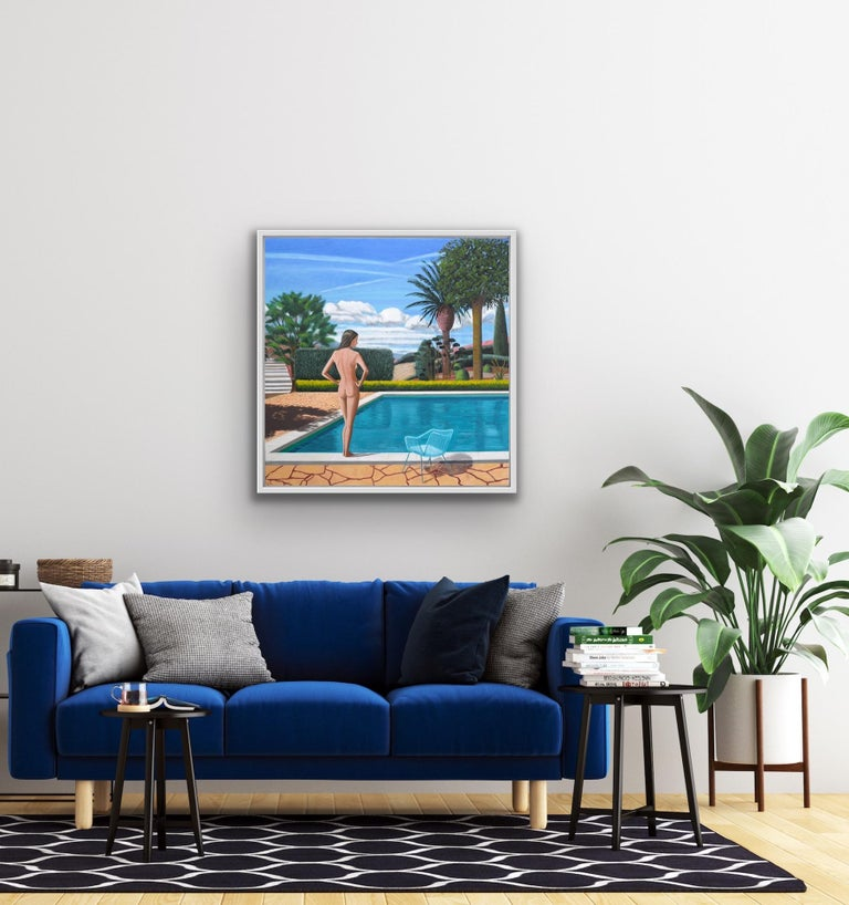Karen Lynn St Paul Pool Original Painting Oil on Canvas Canvas Size: H 76cm x W 76cm Unframed but Ready to Hang (Please note that in situ images are purely an indication of how a piece may look).  This is an oil painting inspired by my longing to be