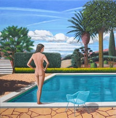 Karen Lynn, St Paul Pool, Original Painting, Landscape Art, Contemporary Art