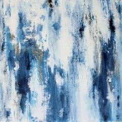 Cracked Blue Ice, Painting, Acrylic on Canvas
