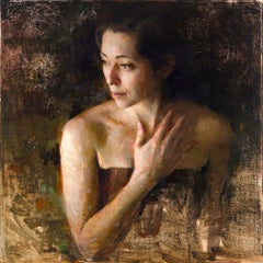 Fading , oil painting , Figurative style, Impressionism ,Women in the Arts