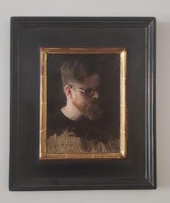 Jason, oil painting , Portrait style, Austin Texas artist, Figures, Women in Art