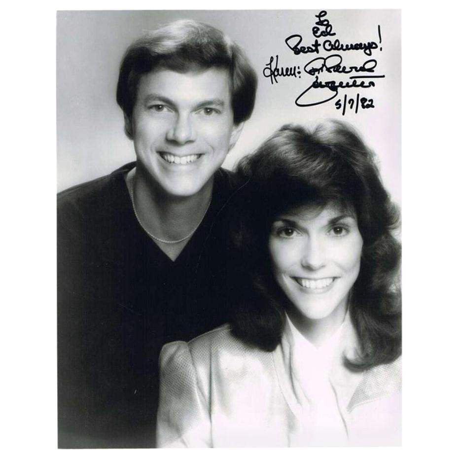 Karen & Richard Carpenter Autographed Black and White Photograph, 1980s