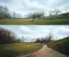 AUTUMN BALANCE, Oil on Canvas