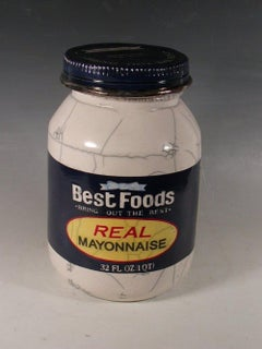 """Best Foods Mayonnaise Jar"""