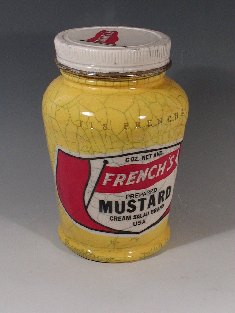 """French's Mustard Jar"" - Sculpture by Karen Shapiro"