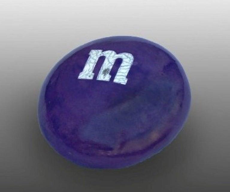 """M&M Purple"" - Sculpture by Karen Shapiro"