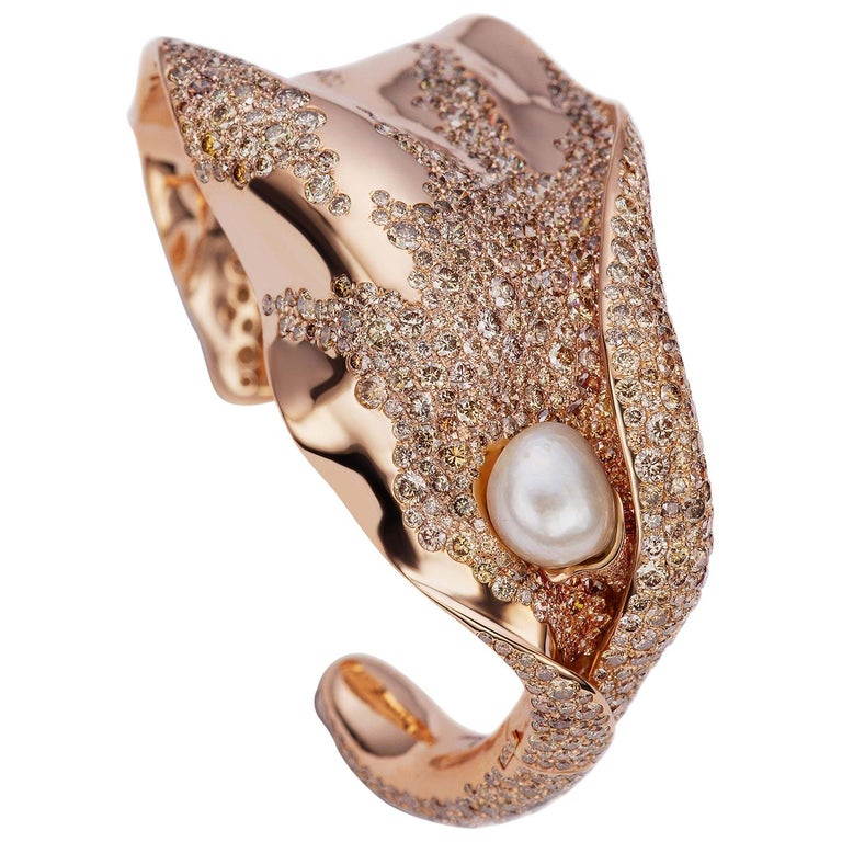 Karesa Cuff Bracelet by Neha Dani For Sale