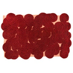 Karesansui Red and Pink Rug by Matteo Cibic