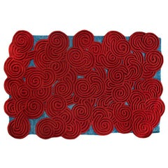 Karesansui Red and Blue Rug by Matteo Cibic