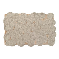 Karesansui Gray and Beige Rug by Matteo Cibic