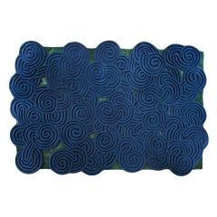 Karesansui Blue and Green Rug by Matteo Cibic