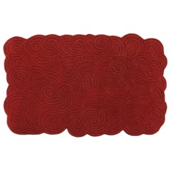 Karesansui Red Rectangular Large Rug by Matteo Cibic