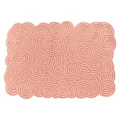 Karesansui Pink Rectangular Large Rug by Matteo Cibic
