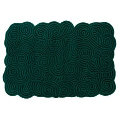 Karesansui Green Rectangular Large Rug by Matteo Cibic