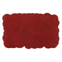 Karesansui Red Rectangular Medium Rug by Matteo Cibic