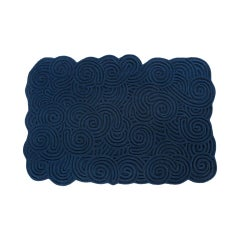 Karesansui Dark Blue Rectangular Medium Rug by Matteo Cibic
