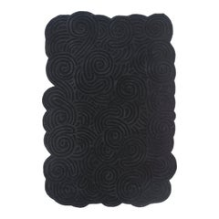 Karesansui Black Rectangular Medium Rug by Matteo Cibic