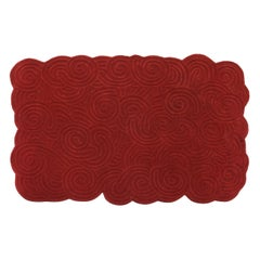 Karesansui Red Rectangular Small Rug by Matteo Cibic